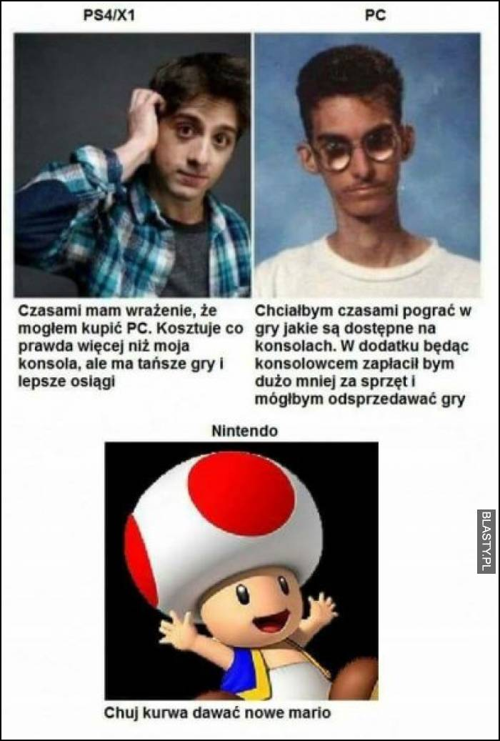 PS4 X1 vs PC vs Nintendo