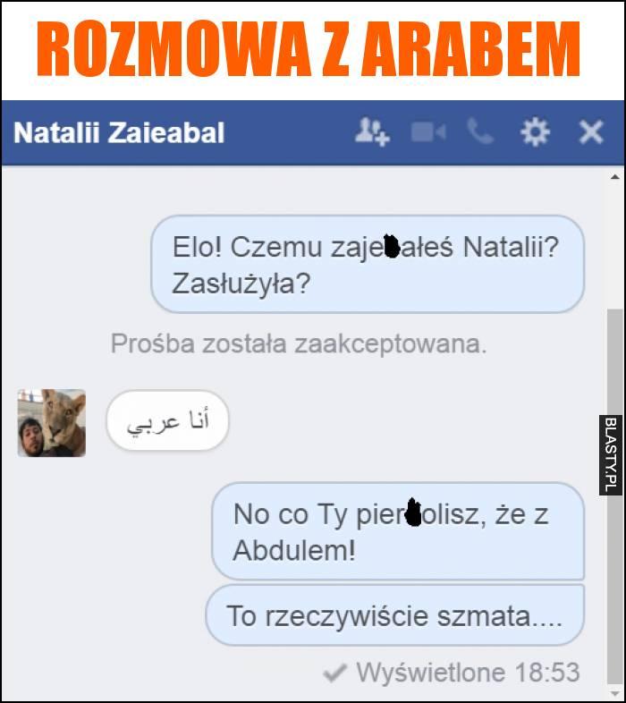 rozmowa z arabem