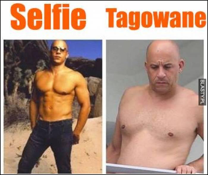 Selfie vs zdjęcie otagowane
