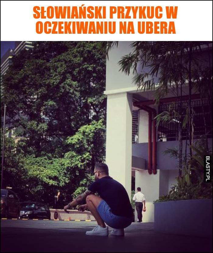 Słowiański przykuc w oczekiwaniu na Ubera
