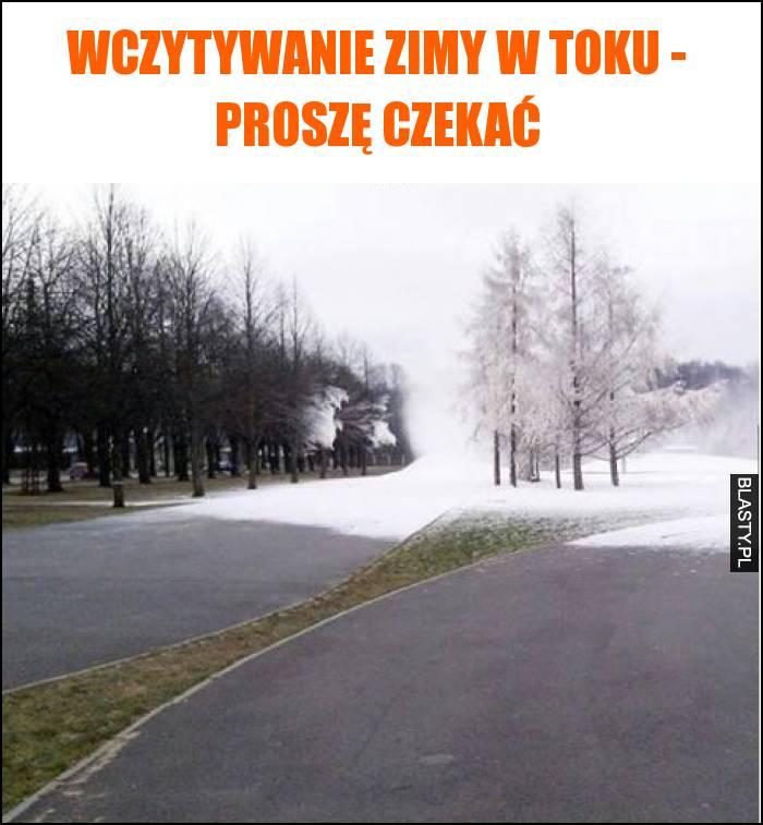Wczytywanie zimy w toku - proszę czekać