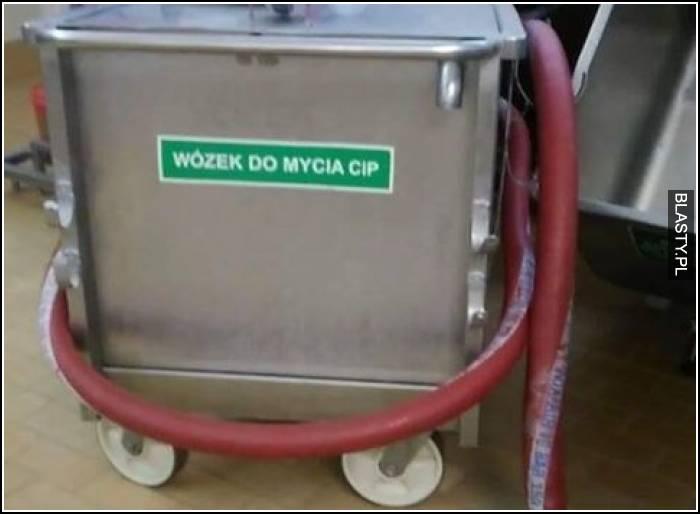Wózek do mycia cip