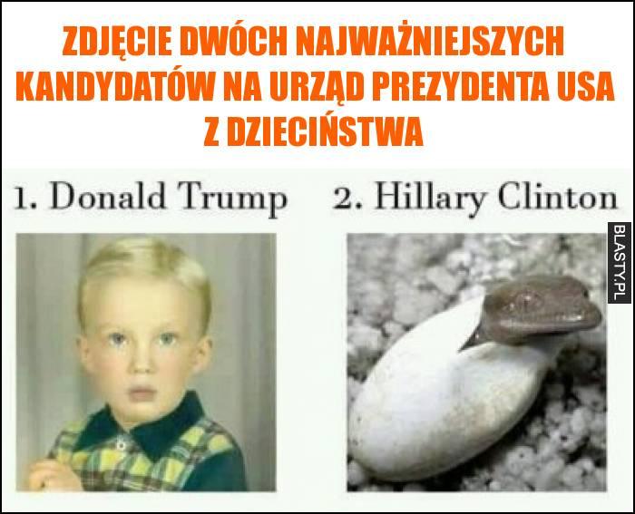 Zdjęcie dwóch najważniejszych kandydatów na urząd prezydenta USA z dzieciństwa