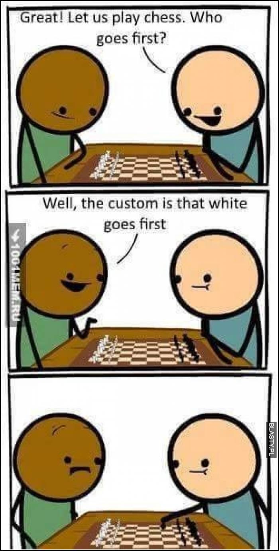 Biały zaczyna