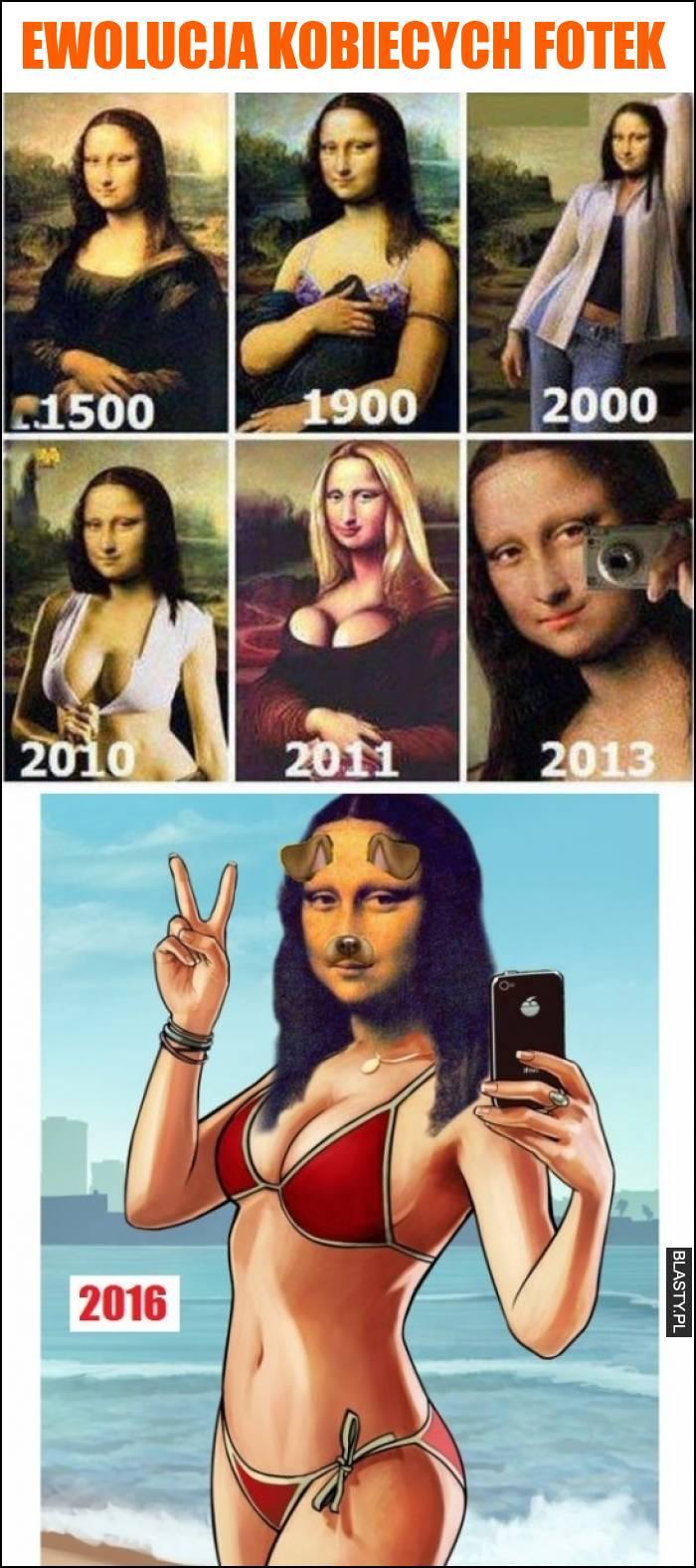 Ewolucja kobiecych fotek
