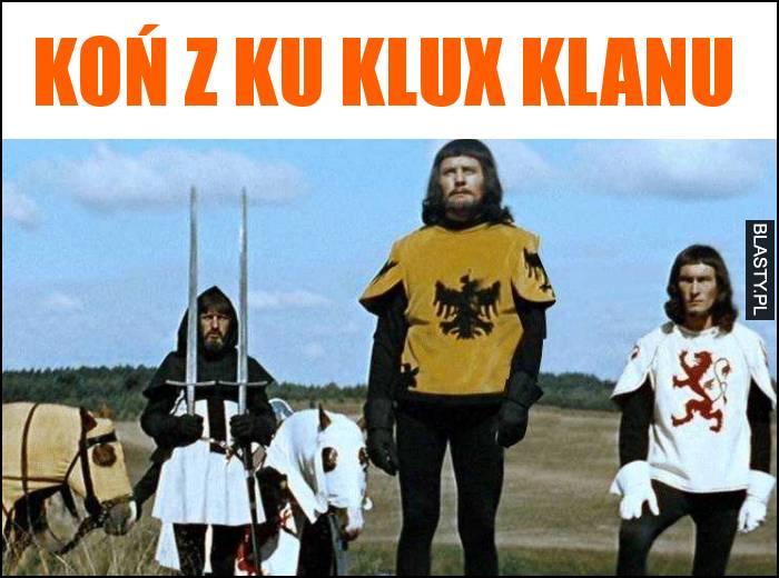 koń z ku klux klanu