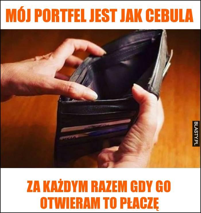 Mój portfel jest jak cebula - za każdym razem gdy go otwieram to płaczę