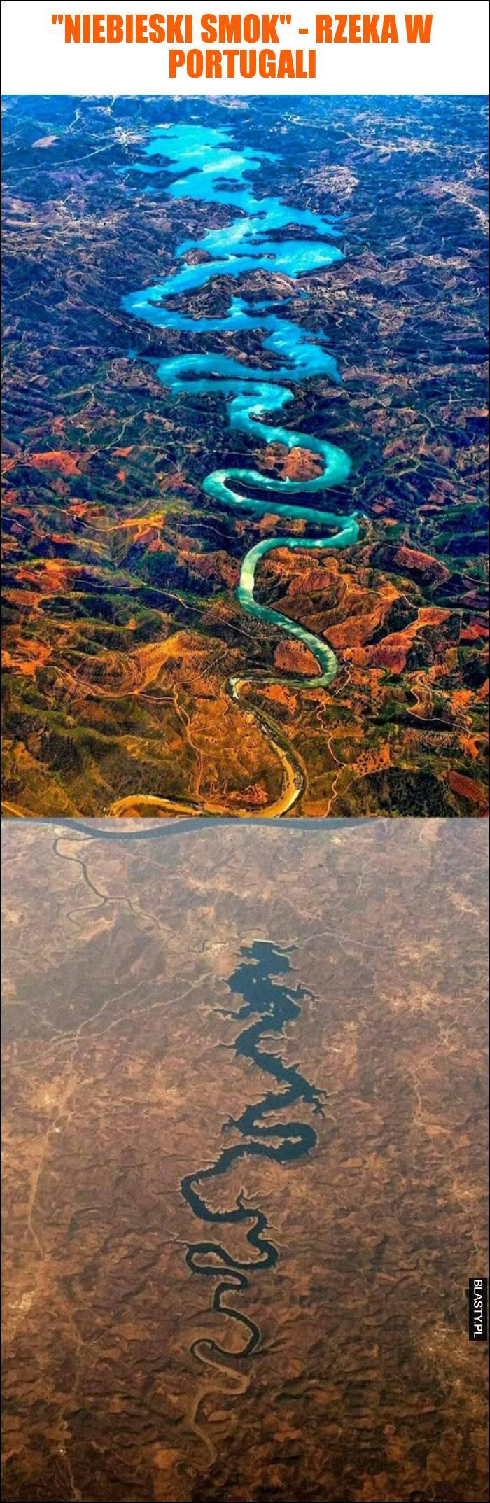 Niebieski smok - rzeka w portugali