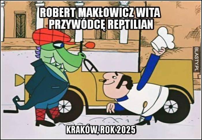 Robert Makłowicz wita przywódce Reptilian