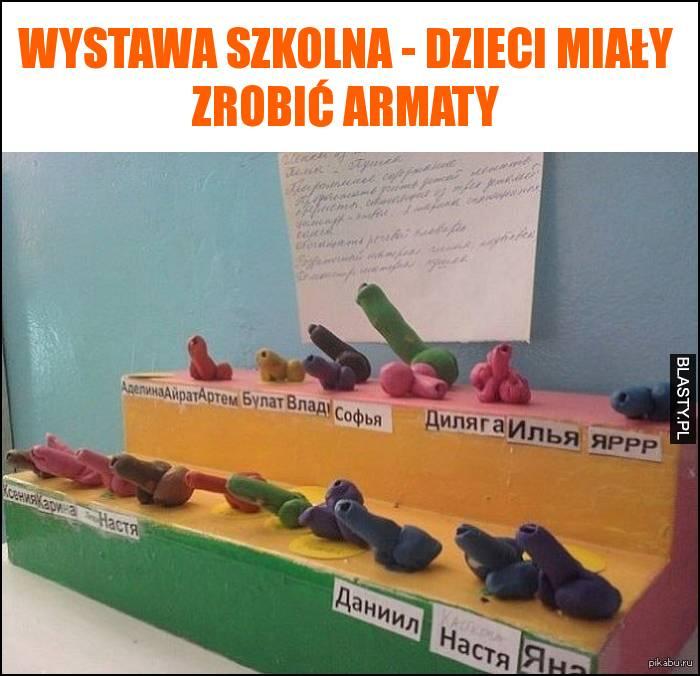 Wystawa szkolna - dzieci miały zrobić armaty