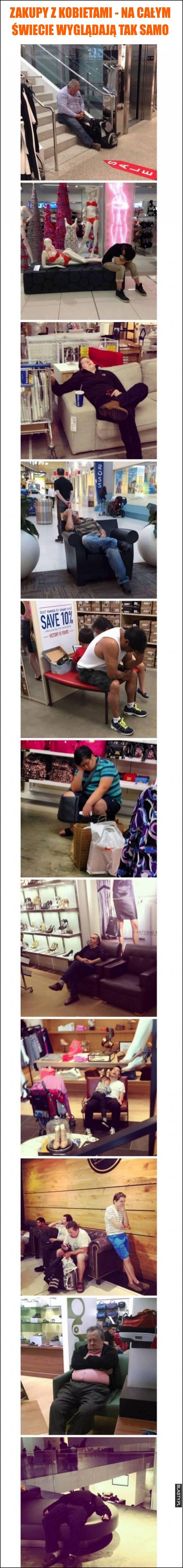 Zakupy z kobietami - na całym świecie wyglądają tak samo
