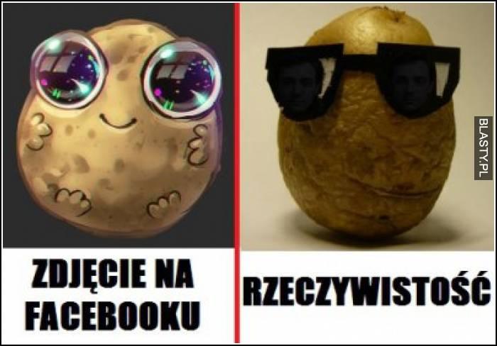 Zdjęcie na facebooku vs rzeczywistość