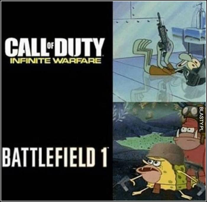 call of duty vs battelfield 1