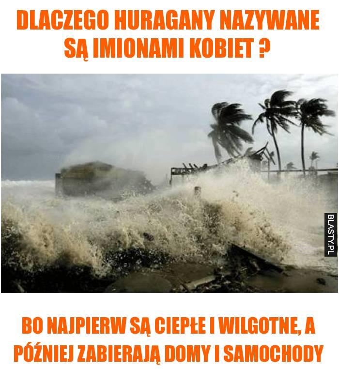 Dlaczego huragany nazywane są imionami kobiet ?