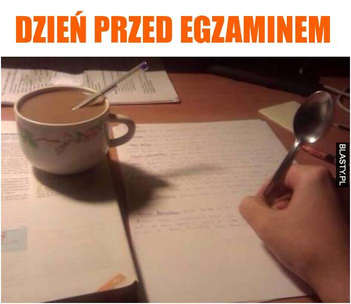 Dzień przed egzaminem