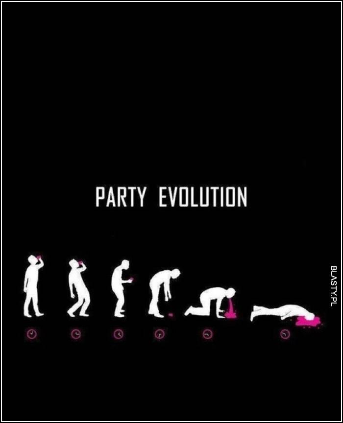 ewolucja imprezy