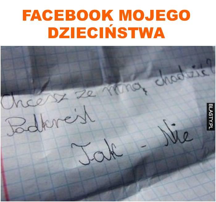 facebook mojego dzieciństwa