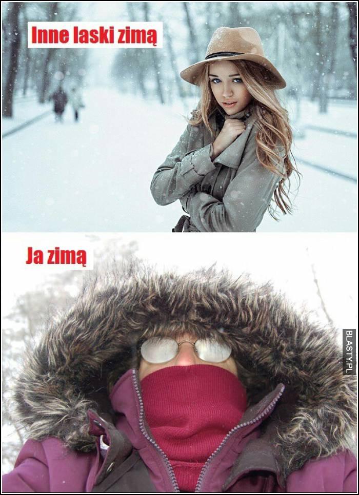 Inne laski zimą vs ja zimą