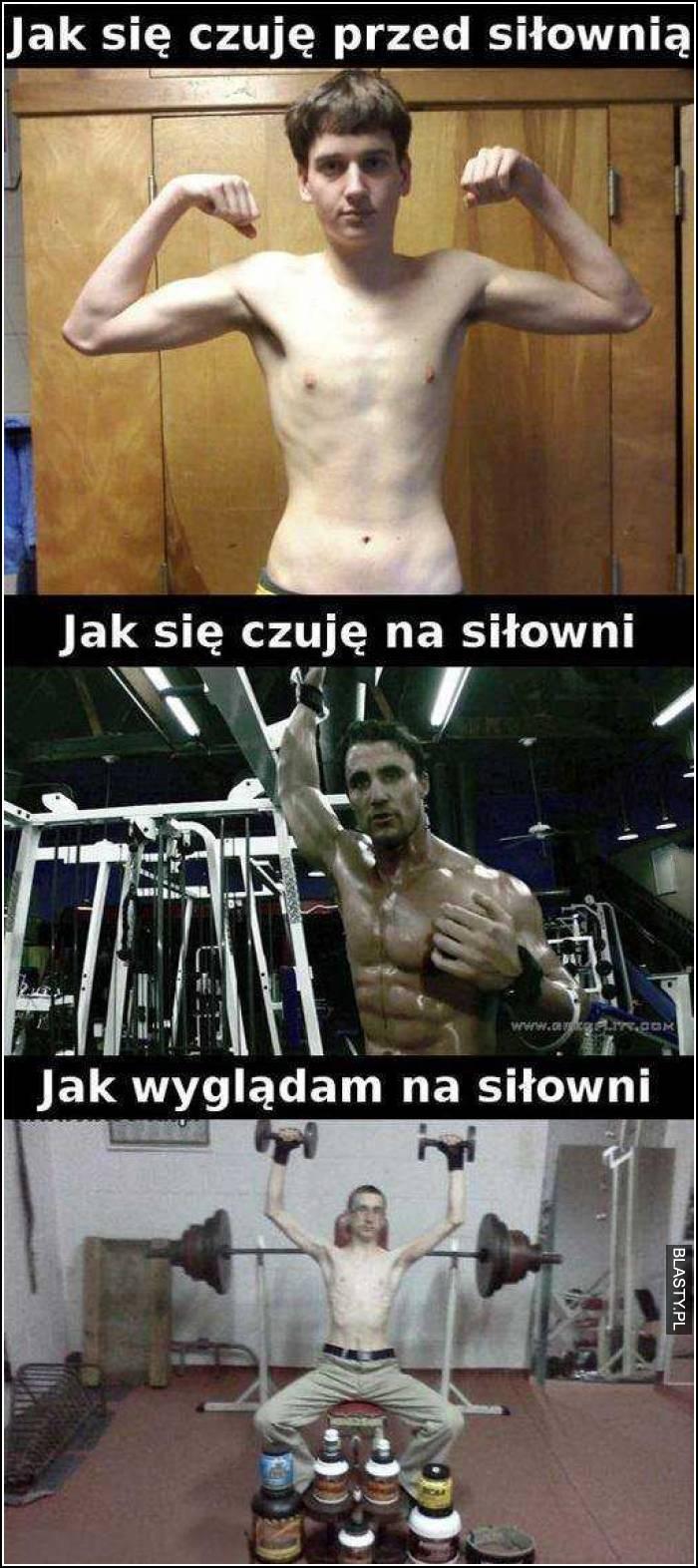 Jak się czuje na siłowni