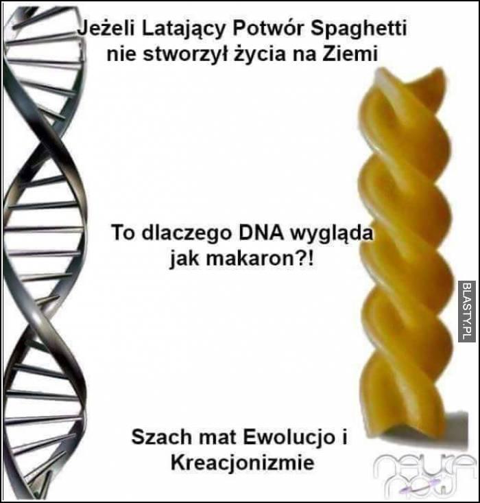 Jeżeli Latający potwór spaghetti nie stworzył życia na ziemi