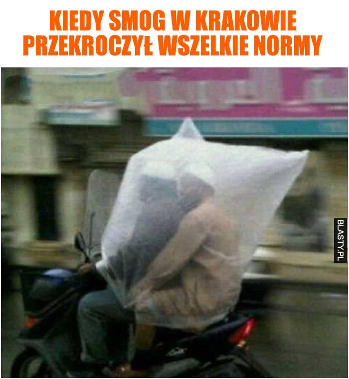 Kiedy smog w Krakowie przekroczył wszelkie normy