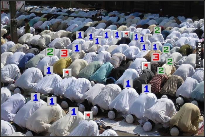 Muzułmanie gra w sapera