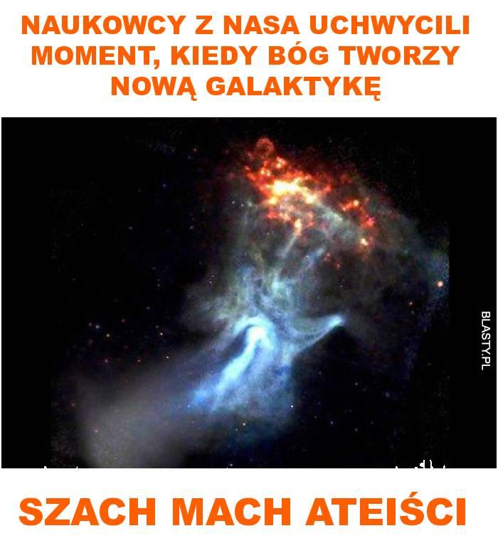 Naukowcy z nasa uchwycili moment, kiedy Bóg tworzy nową galaktykę
