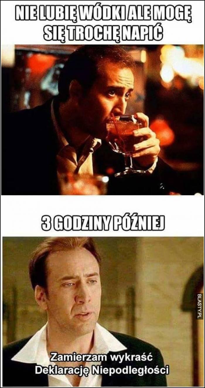 Nie lubię wódki ale mogę się trochę napić