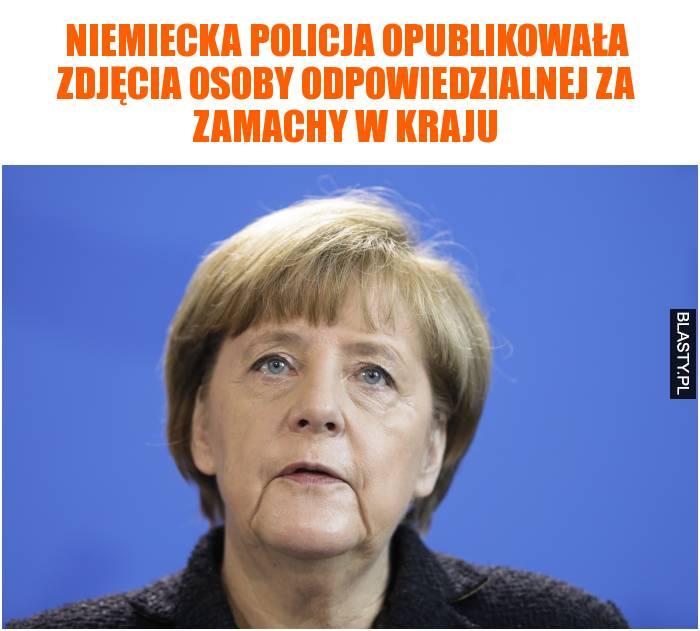 Niemiecka policja opublikowała zdjęcia osoby odpowiedzialnej za zamachy w kraju