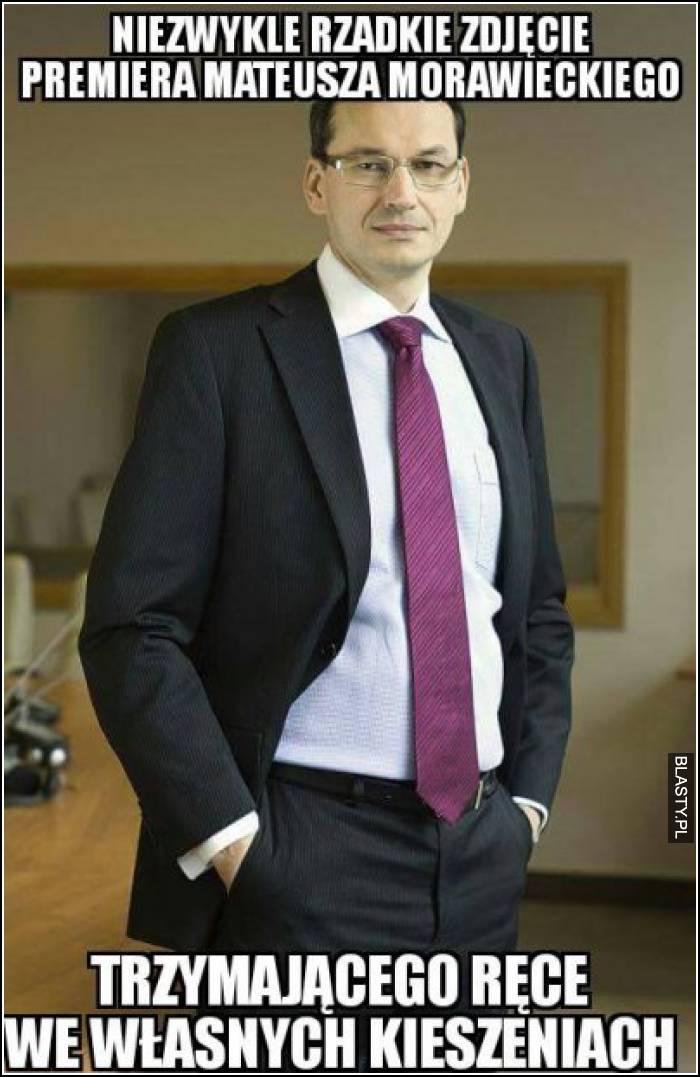 Niezwykle rzadkie zdjęcie premiera Mateusza Morawieckiego