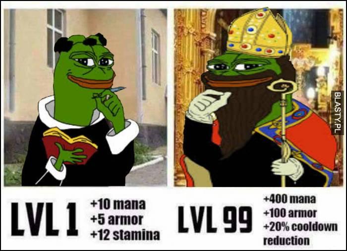 Pepe level 1 vs Pepe level 99