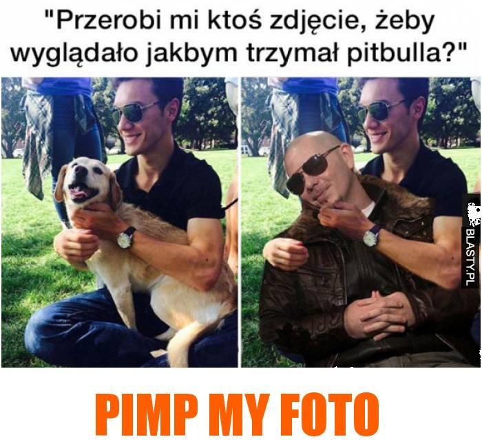 przerobi mi ktoś zdjęcie, żeby wyglądało jak bym trzymał pitbulla