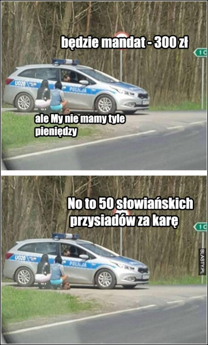 słowiańskie przysiady za karę