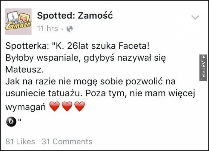 szukam chłopaka 2016 Lublin