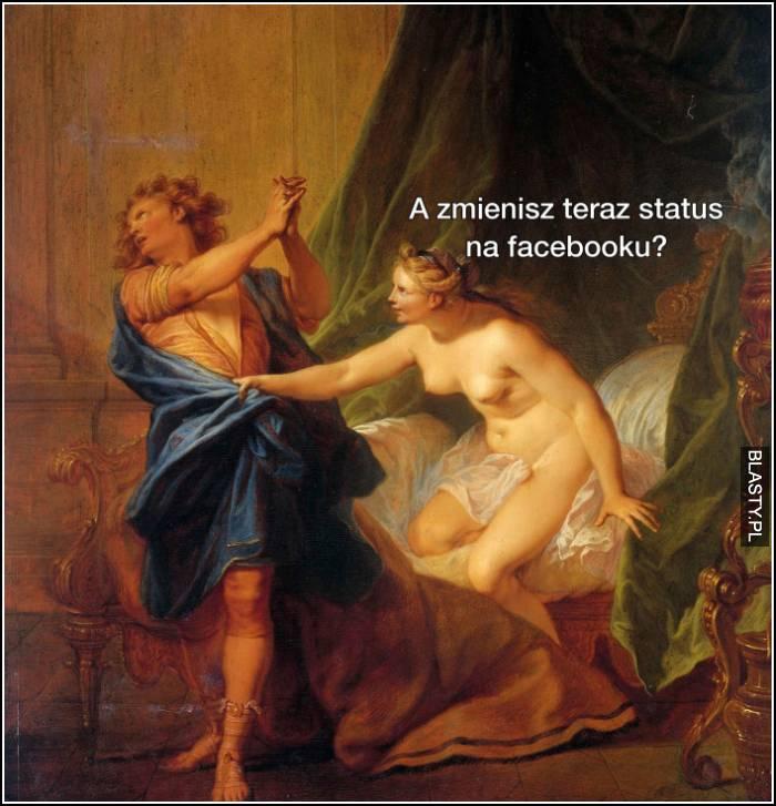 status na facebooku