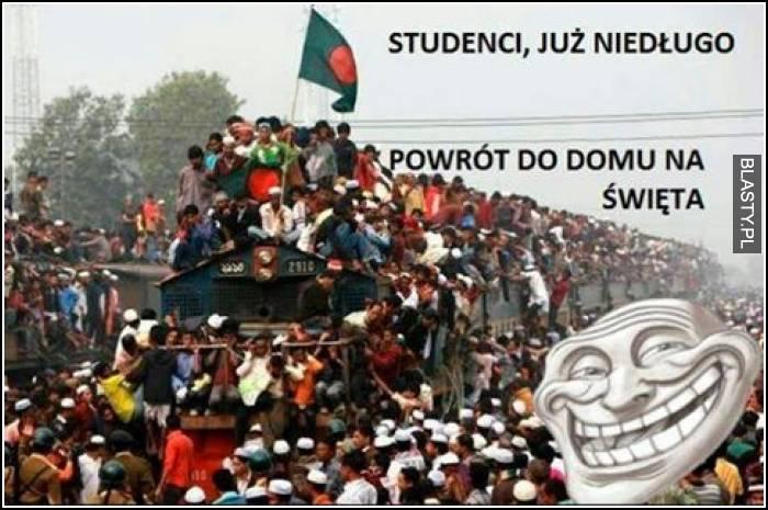 Studenci już niedługo - powrót do domu