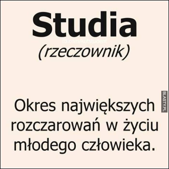 Studia - rzeczownik