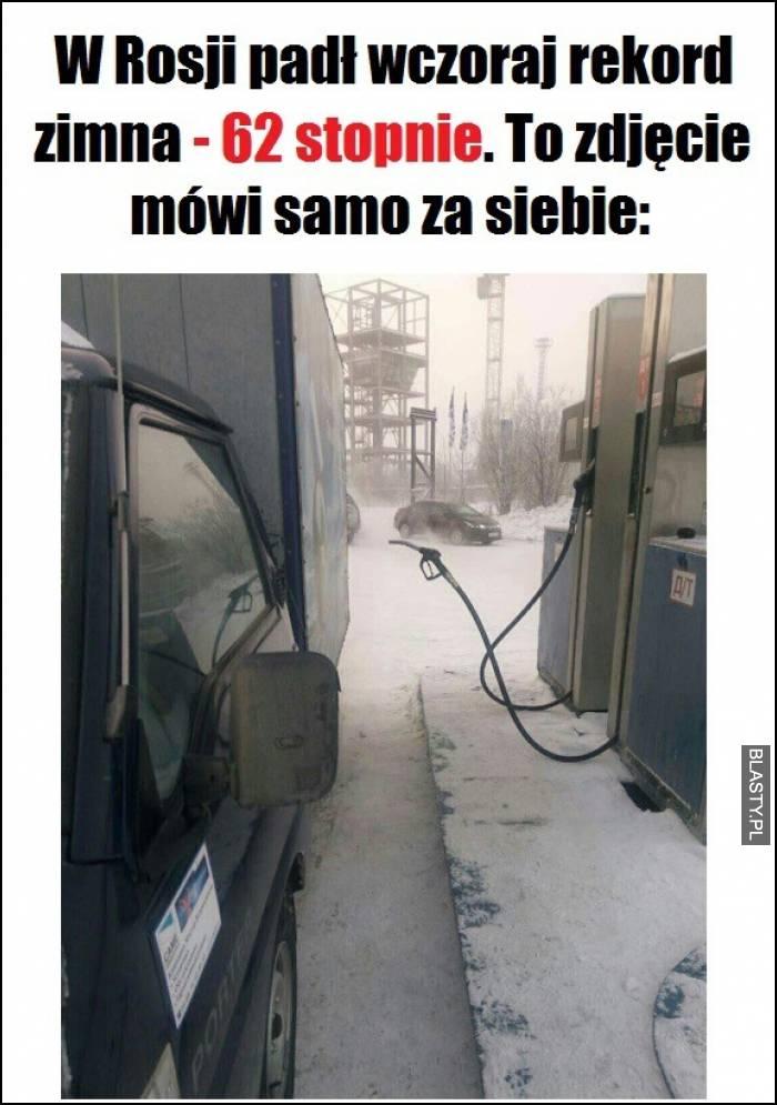 W Rosji padł wczoraj rekord zimna - 62 stopnie