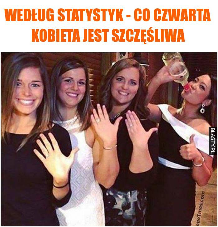 Według statystyk - co czwarta kobieta jest szczęśliwa