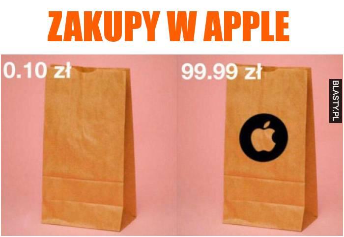 zakupy w apple