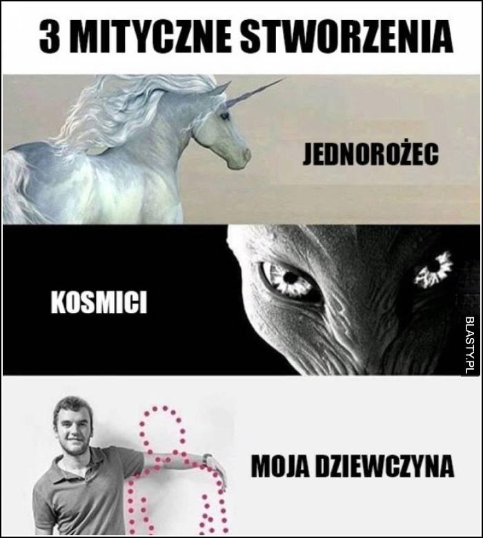 3 mityczne stworzenia