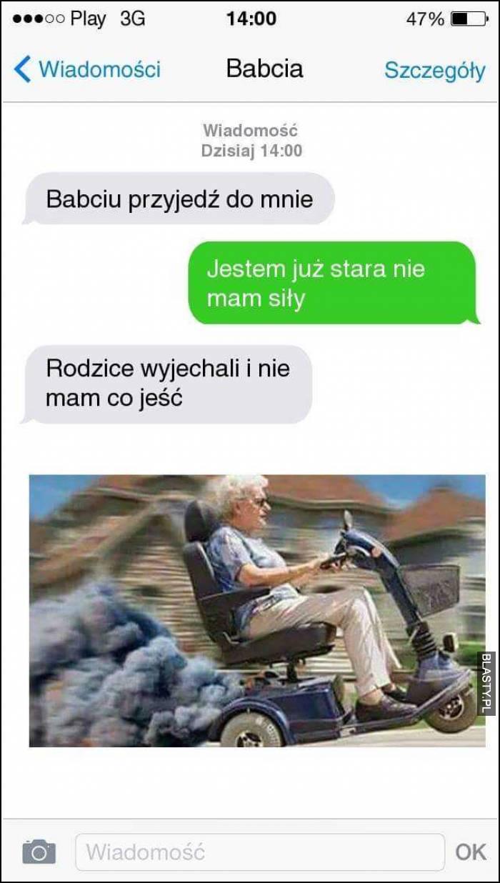 Babcia jedzie
