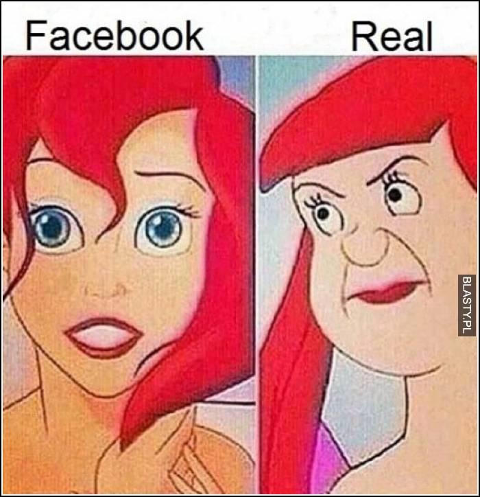 facebook a rzeczywistość