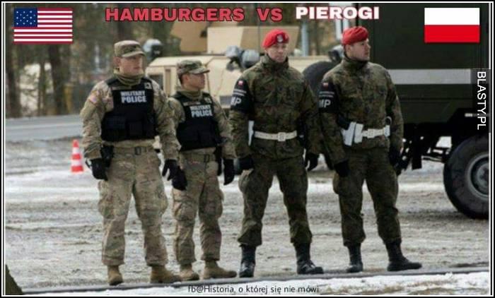 Hamburgers vs pierogi