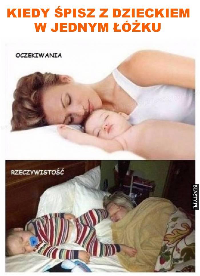 kiedy śpisz z dzieckiem w jednym łóżku