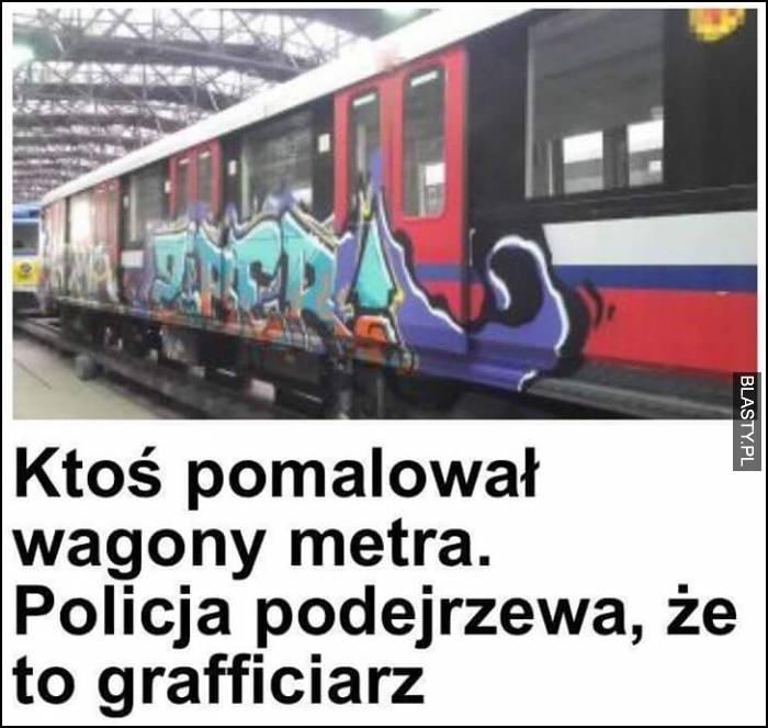 ktoś pomalował wagony... to grafficiarz wow polska policjo