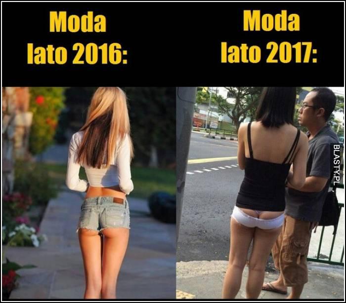 Moda lato 2016 vs 2017