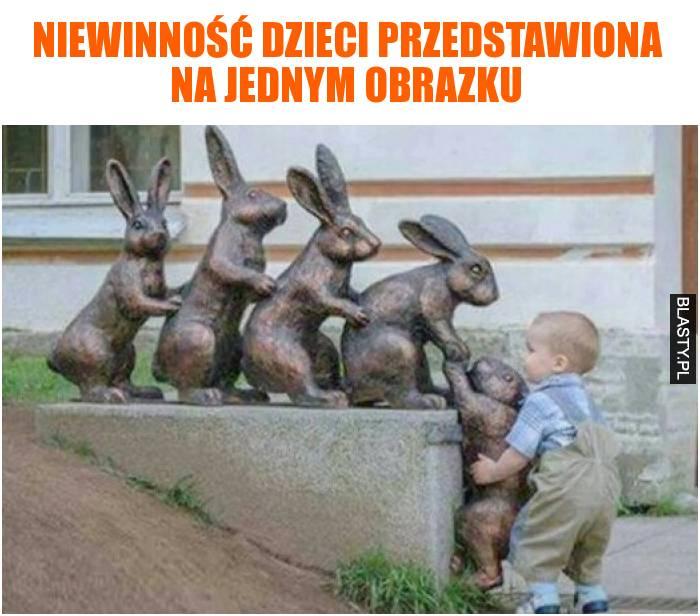Niewinność dzieci przedstawiona na jednym obrazku