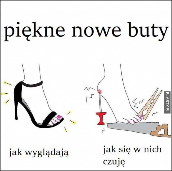 piękne nowe buty