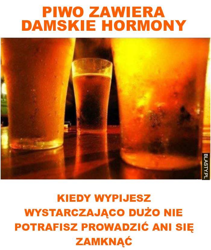piwo zawiera damskie hormony